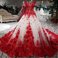 Modabelle романтическое красное кружевное свадебное платье с цветами, 100 см, бальные платья со шлейфом, роскошное свадебное платье с кружевом, ха