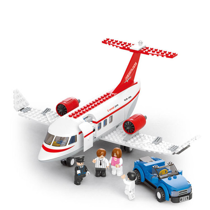 275pcs Brand Compatible Assembly Aircraft Model Building Blocks DIY Airplane Car Bricks Figures Toys For Boy Kids Gift gudi new private aircraft passenger airport building blocks bricks boy toy compatible with kids toys for children gift