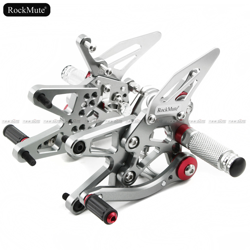 For BMW S1000R HP4 2013 2014 2015 2016 Motorcycle CNC Aluminum Adjustable Rearset  Foot Pegs Pedal Footrest Rear Set