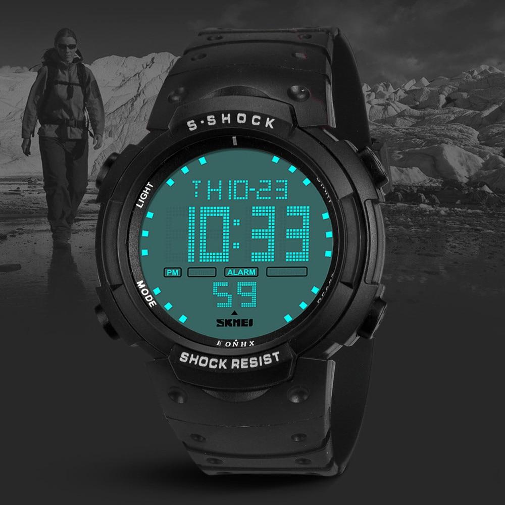 2018 Best Sell Watch Men Watches Fashion Waterproof Boy LCD Digital Stopwatch Date Rubber Sport WristWatch relogio masculino new garmin watch 2019