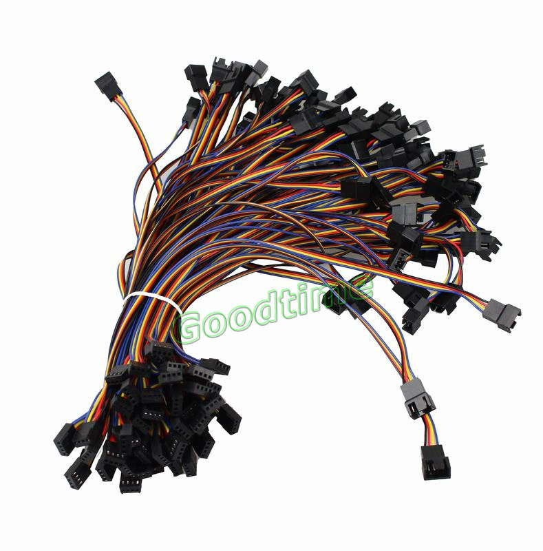 PC Cooling Fan 4 Pin to 2x 4pin//3pin PWM Convert Connector Extension Cable 300mm