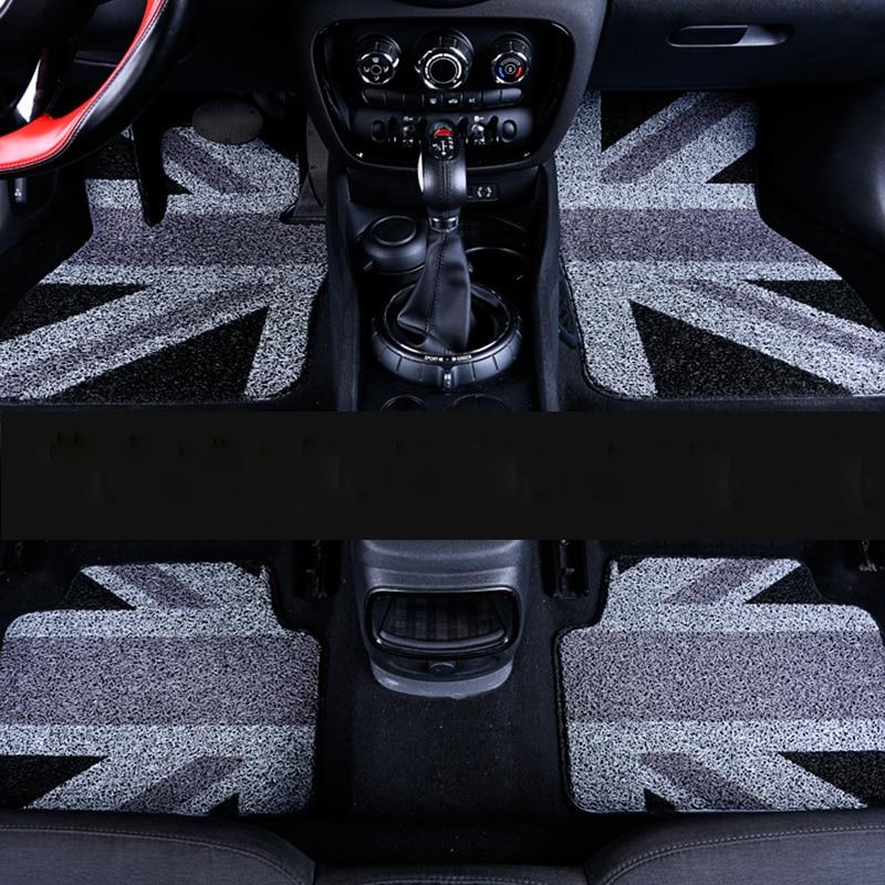 Car Floor Mats Interior PVC Front Rear Pad Durable Rugs Mats Carpet For Mini Cooper Clubman