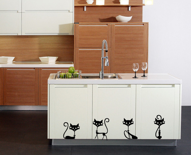 Bathroom Indian Cat Decorative Wall Stickers Living Room Removable