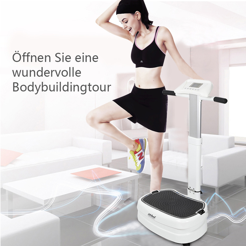 лучшая цена Sports Fitness Ultra-thin Vibrating Machine Trainer Platform Body Muscle Massage Vibration Shaper Fitness Equipment HWC