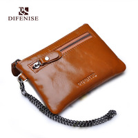 Difenise 2016 Spring New Fashion Leather Women Wallets Tide Color Oil Wax Head Layer Leather Flat