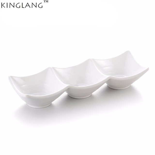 Restaurant Plastic Melamine Rectangle White Small Soy Sauce Dish 3 Compartment Divided Dish Plate Tableware  sc 1 st  AliExpress.com & Restaurant Plastic Melamine Rectangle White Small Soy Sauce Dish 3 ...