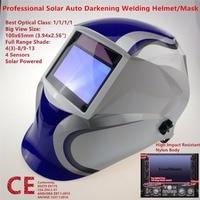 High Quality Welding Mask 100x65mm Top Class Filter 1111 4 Sensors Welder Hat Auto Darkening MIG