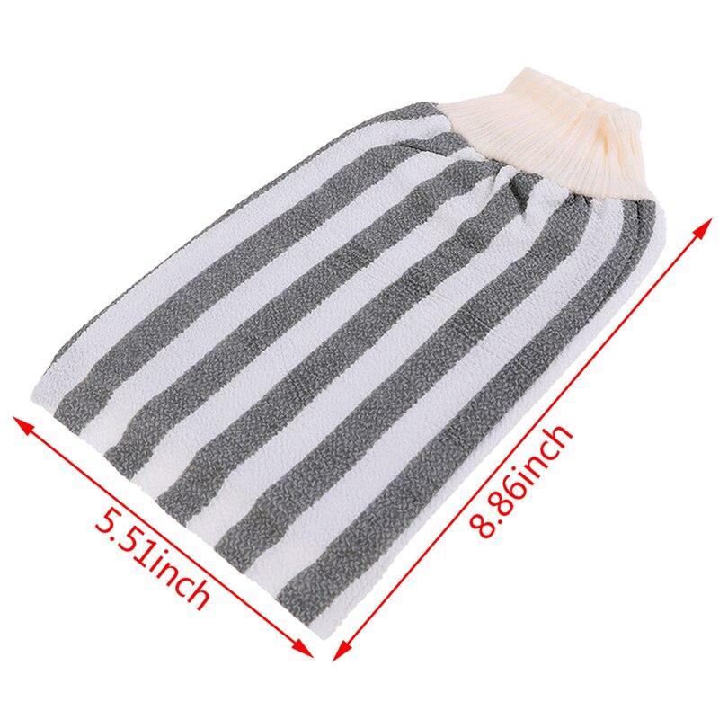 Купить с кэшбэком Exfoliating Body Scrub Gloves Shower Bath Skin Massage Sponge Mitt Rubbing Towel Bath Glove