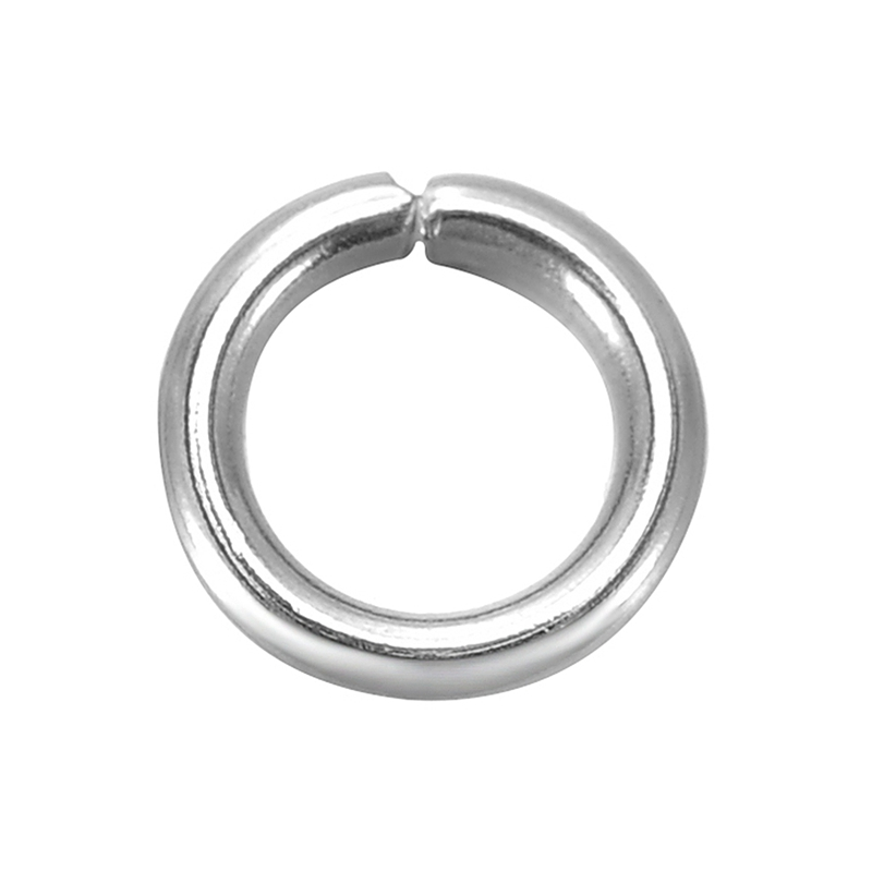 Doreen Box Lovely 500PCs Silver Color Stainless Steel Open Jump Rings 7mm X 1.2mm (B18879)
