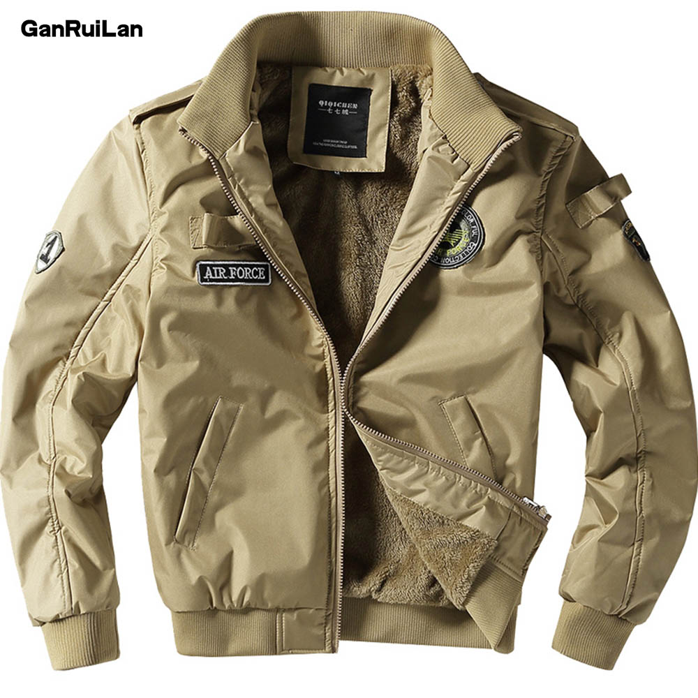 2019 New Winter Section Thickened Hair Liner Men's Jacket Army Air Bomber jacket Men's Leisure Jacket Military Large JK18014ge