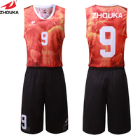 red fire digital sublimation printing custom basketball kits your own design basketball jersey customizing