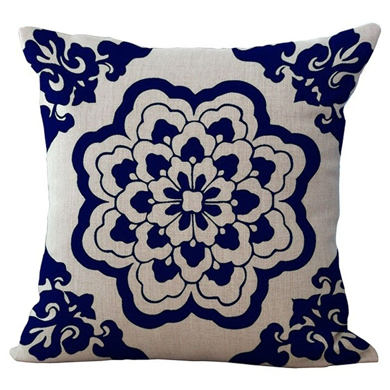 Square Throw Pillow Size : Cushion Cover Bohemian Style Cotton linen Blend Cushions Sofa Chair Cushion Square Size ...
