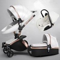 Multifunctional Baby Stroller 3 in 1 Aluminium Alloy High Landscape Carriage European Lightweight Pram Folding strollers brands