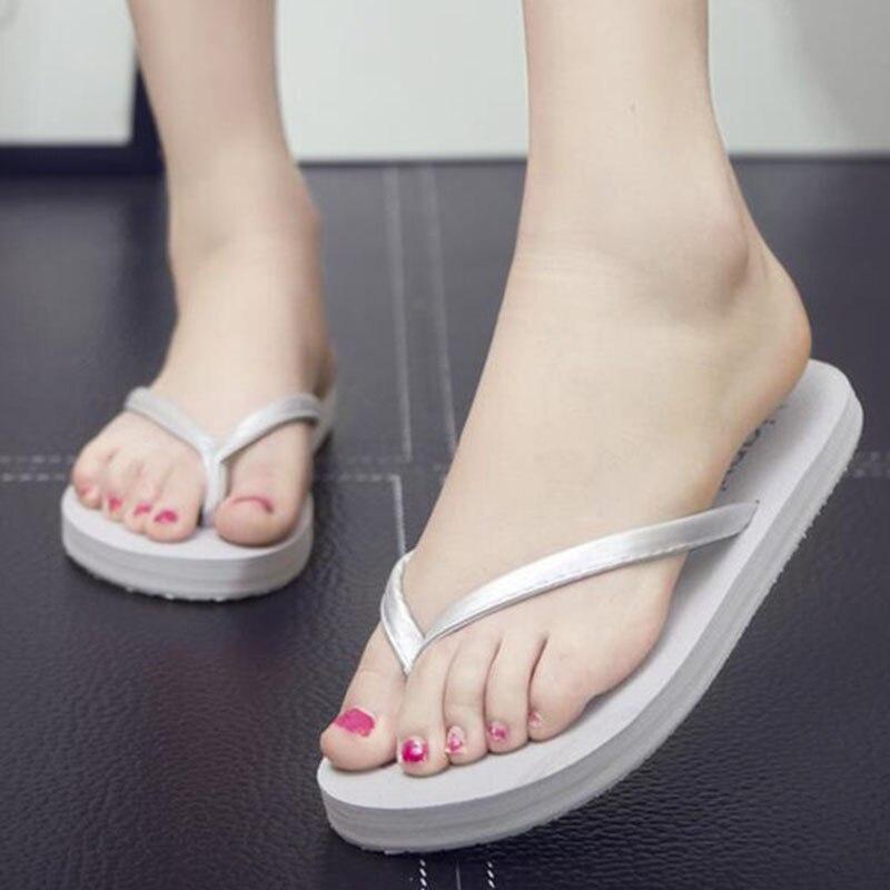 79efeaf17 Versión 3 Genial Flops Zsq14 Antideslizante Zapatos Mujer 2 Flip De Playa 4  Tacón Arrastre Fondo Grueso Nuevo 1 Verano Zapatillas Coreana Oqn11H