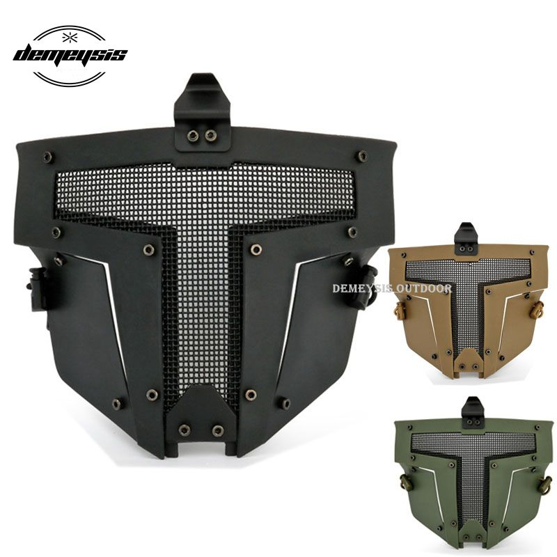Tactical Airsoft Paintball Mask Protective Full Face Military Wargame Shooting Mask Outdoor Safety CS Combat Mask Accessorise