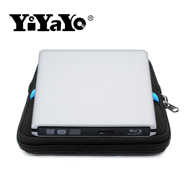 YiYaYo Blu-ray Player External USB3.0 DVD/BD-RW burner CD/DVD/BD-ROM Player Portable slim for Laptop,Play 3D Movie+Drive bag bluray player external usb 3 0 dvd drive blu ray 3d 25g 50g bd rom cd dvd rw burner writer recorder for windows 10 mac os linux