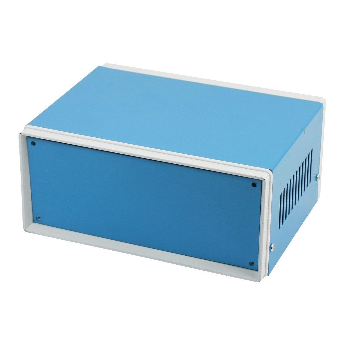 цена на 6.7 x 5.1 x 3.1 Blue Metal Enclosure Project Case DIY Junction Box