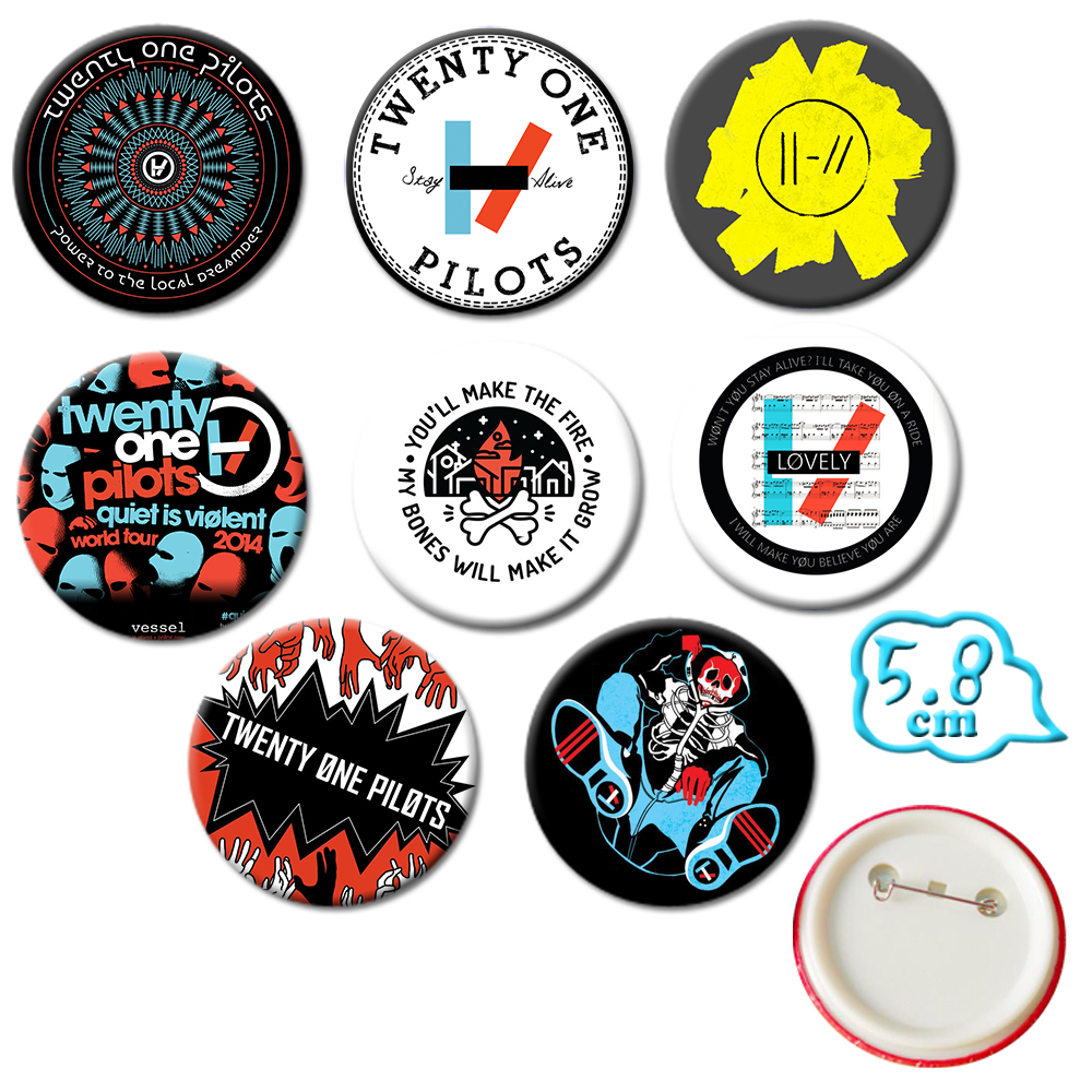 Giancomics Hot Twenty one pilots Band Undertale Pins Button PVC Cute Cartoon Badges Brooch Chestpin Costume Ornament Accessory