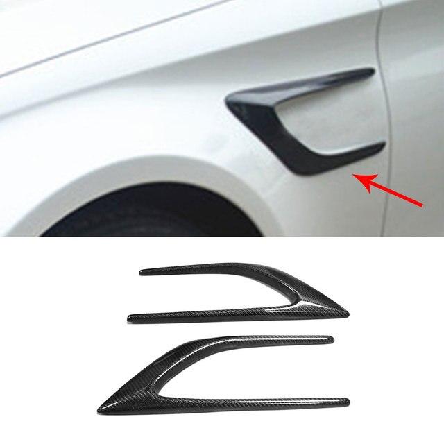 C Class Carbon Fiber Side Bumper Trims Fender Vents for Mercedes Benz W205 C63 AMG C200 C260 C300 Sedan Coupe 15-17