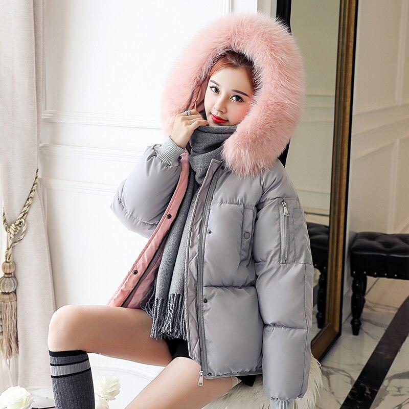 Vestes Vert Col Gris Manteau Rouge noir À gris army Capuchon 2018 Mode Veste Fourrure rouge Green Femelle Armée D'hiver Femmes Femme Mince Outwear Courte De Noir Beige fT85O
