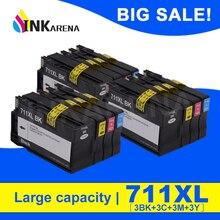 INKARENA 3 комплекта Полная замена чернильных картриджей для HP 711 XL для HP 711 711XL для HP Designjet T120 T520 принтер струйный картридж
