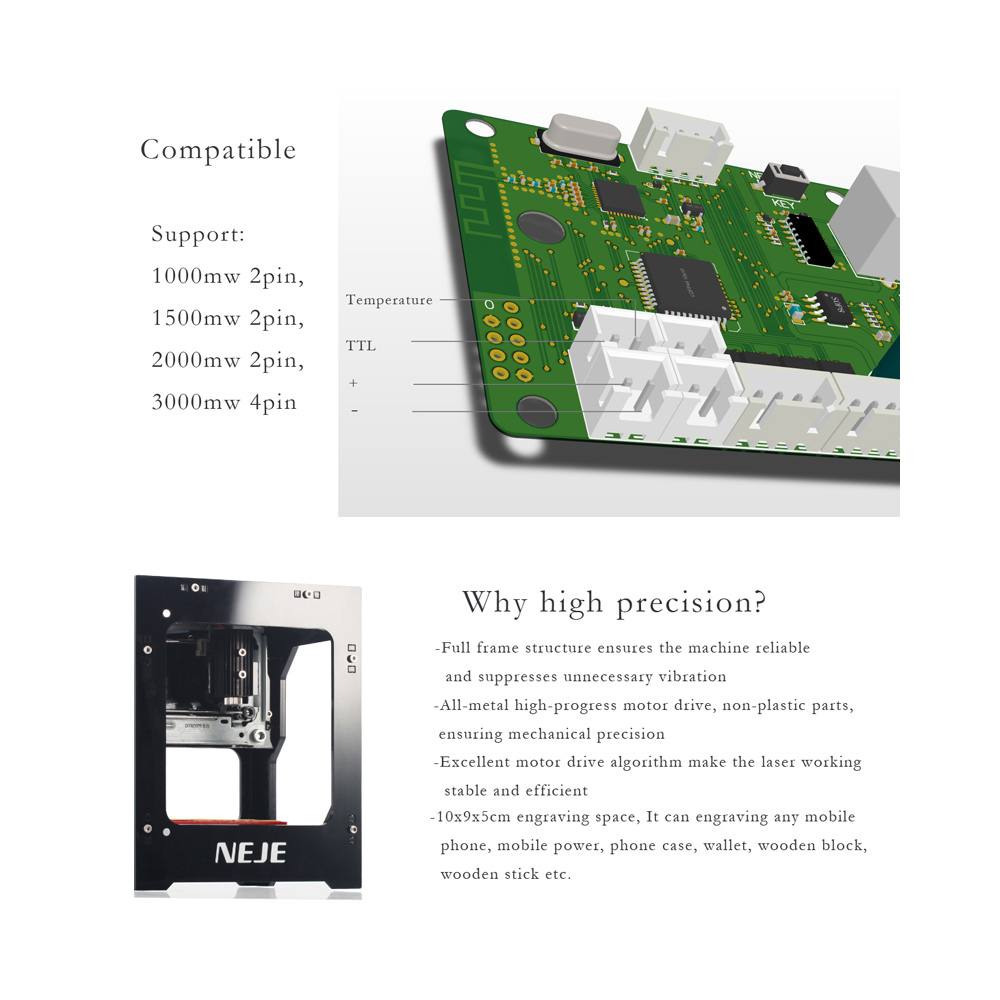 3000mW Laser Engraver 445nm Smart AI Laser Engraving Machine Supports Off line Operation DIY Print Carving Machine for Windows in Wood Routers from Tools