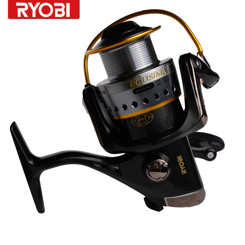 RYOBI fishing line reel ECUSIMA 1000/2000/3000/4000 spinning metal lure fishing wheel metal handle smooth 100% original winder катушка для удочки ryobi ecusima 6000vi reel5 0 1 5 1bb