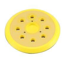 Шлифовальный диск подложка 5 дюймов 125 мм полированная буферная пластина M14 резьба крюк и петля подпорка диск подходит шлифовальный станок электрическая дрель