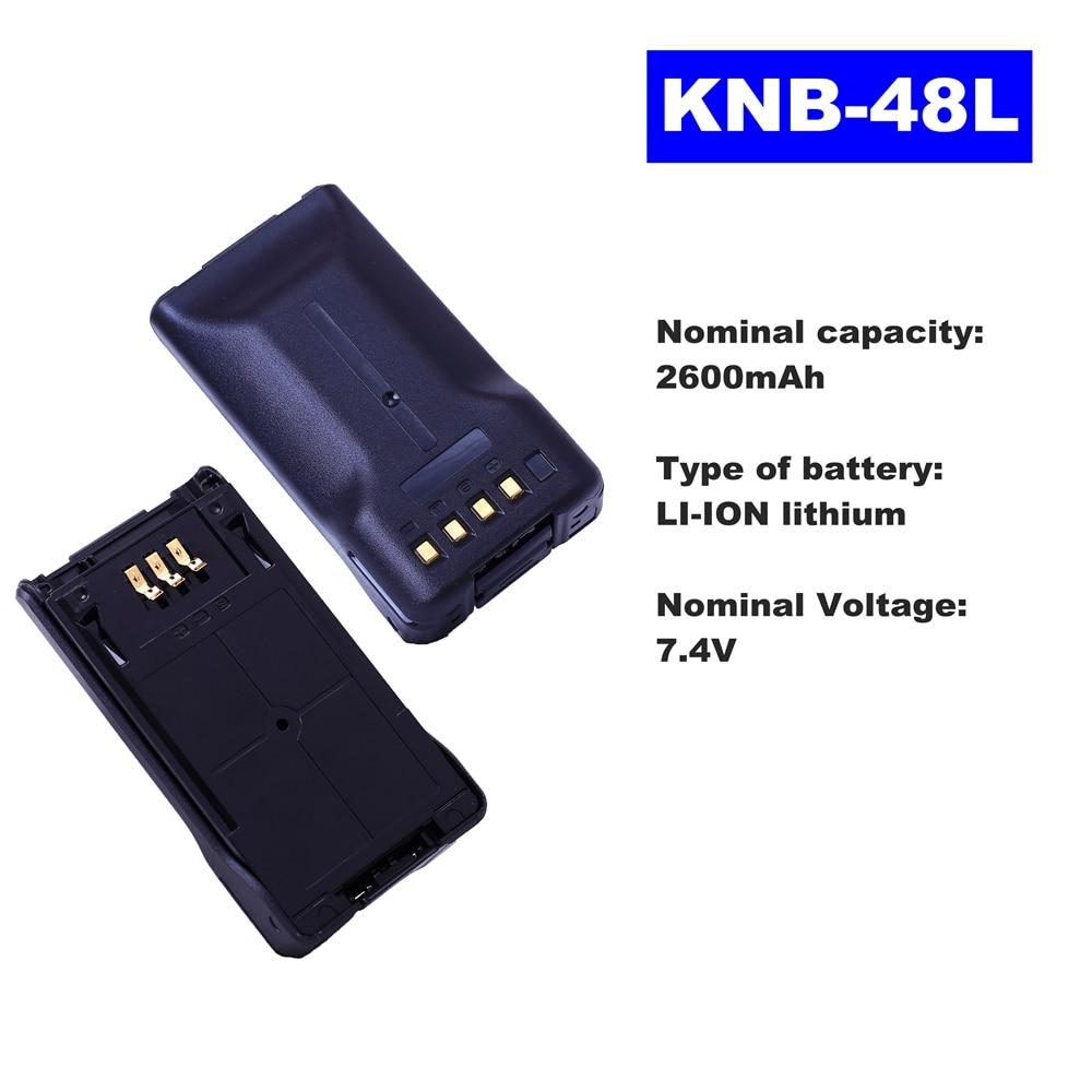 7.4V 2600mAh LI-ION Radio Battery KNB-48L For Kenwood Walkie Talkie NX-200 NX-300 Two Way Radio