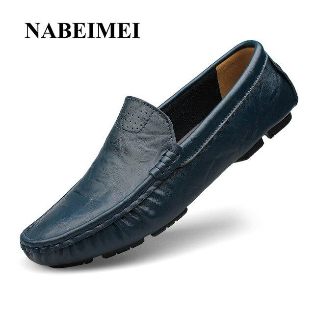 Мужская обувь обувь из натуральной кожи 2017 квартира с полным Зерна кожа максимальный размер 6-16 противоскольжения резиновая обувь твердые 5 цветов обуви