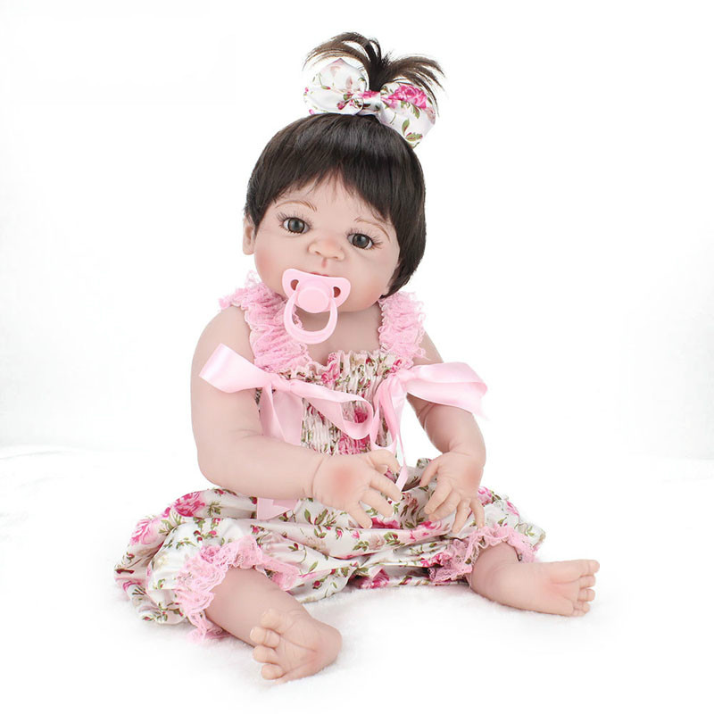 55cm 22 Inches Full Body Vinyl Silicone Reborn Doll Newborn Babe Shower Toys Kids Christmas Birthday Gifts Movie Photo Props55cm 22 Inches Full Body Vinyl Silicone Reborn Doll Newborn Babe Shower Toys Kids Christmas Birthday Gifts Movie Photo Props