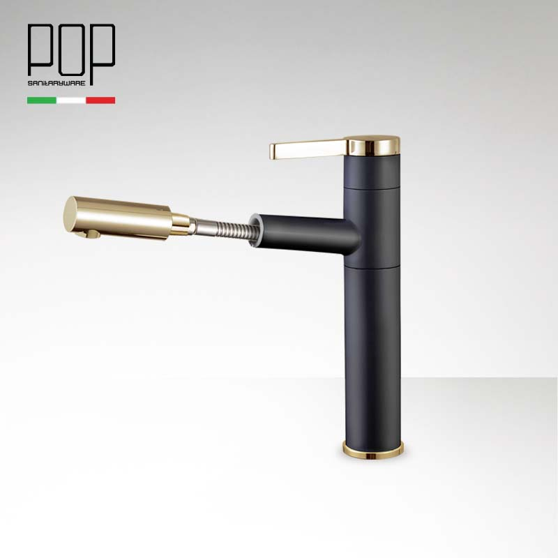 POP Deck Mounted Pull Out Bathroom Vanity Faucet , Pull Out Single Handle Lever Basin Faucets Hot and Cold Basin mixer Tap pastoralism and agriculture pennar basin india