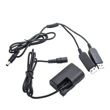 Dual Usb Power Adapter, Dr E6 Dc Coupler (ถอดรหัสเต็มรูปแบบ) เปลี่ยนLp E6 แบตเตอรี่สำหรับEos 5D Mark Ii, 5D Mark Iii, 5Ds, 5Ds R