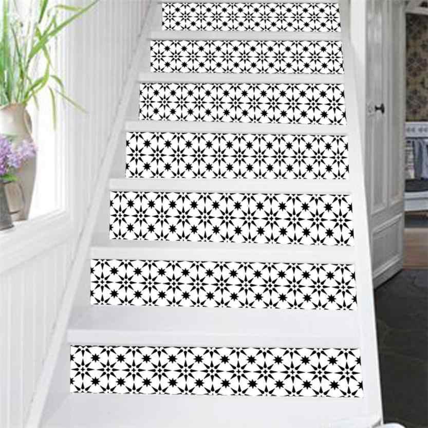 2018 מדבקת PVC 6Pcs מדרגות מדרגות Riser רצפת מדבקת DIY קיר מדבקות אופנה מדרגות מדבקות קישוטים לבית 7.5