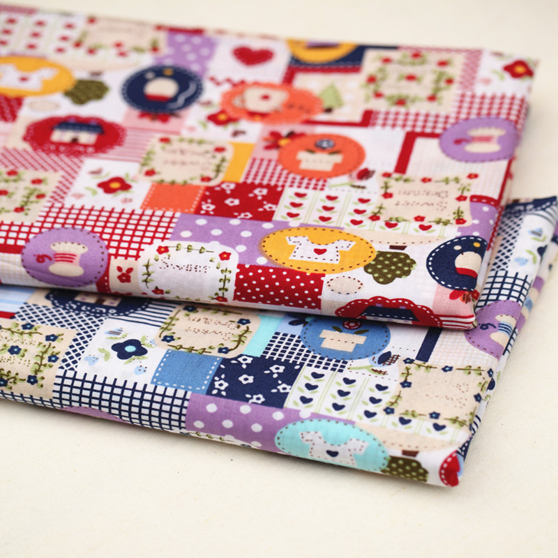 Diy handmade patchwork child bedding fabric bed sheets 2