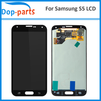 10Pcs LCD For Samsung Galaxy S5 i9600 SM G900 G900 LCD Display No Dead Pixel Touch Digitizer Screen Assembly Replacement Parts
