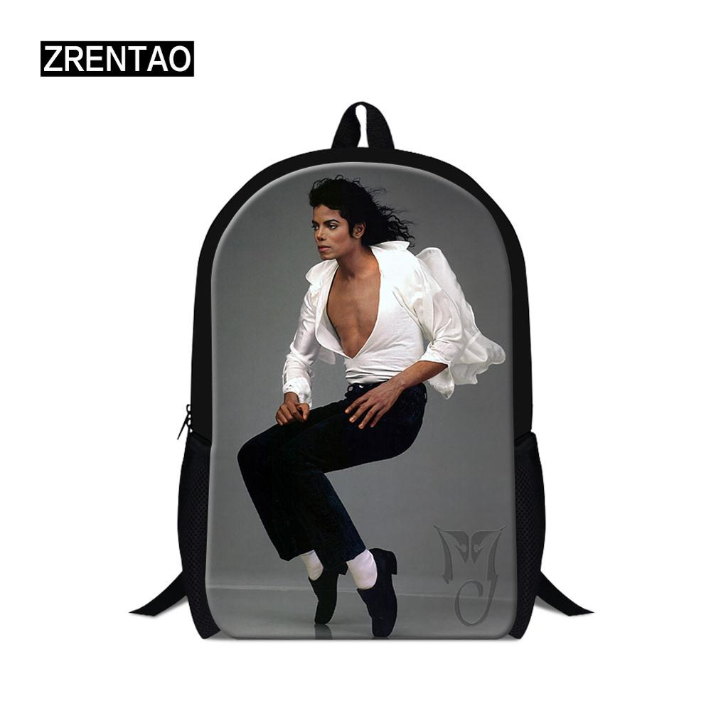 Micheal Jackson Waterproof Nylon School Bags for teen Girls Boys Orthopedic  Children Backpack Kids Bag Grade 1-6 Mochila Escolar