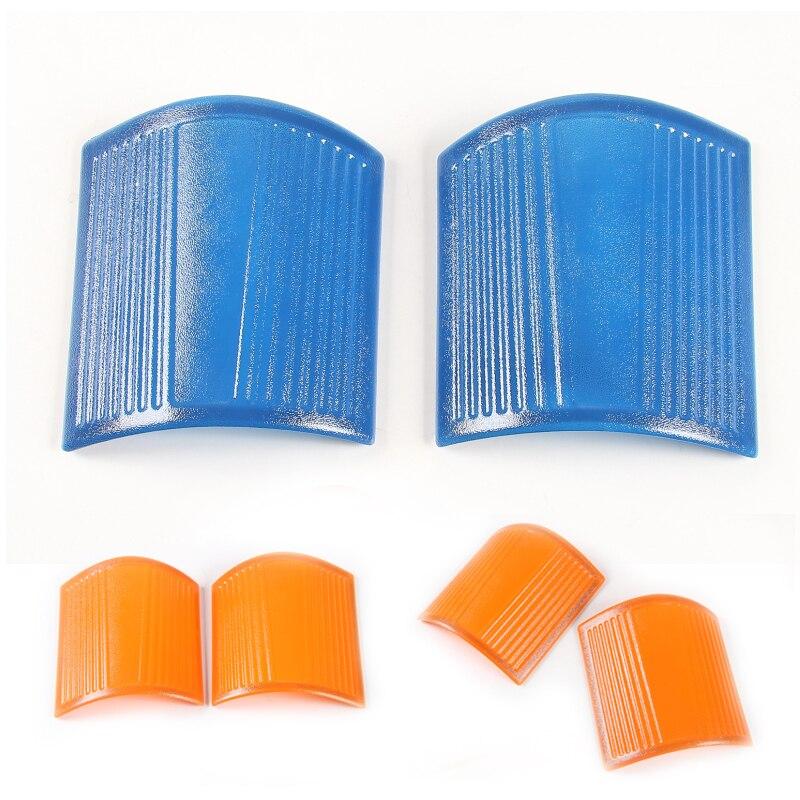 2 pièces bleu Orange ABS capot coin Wrap couverture pour Jeep Wrangler 2007-2017 A colonne coin couvre plastique capuchons de Protection