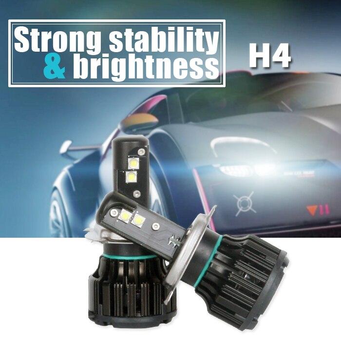 Super Bright 2PCS Auto Car H3 H4 H7 H11 H13 9005 9006 LED Headlight Kit Bulb