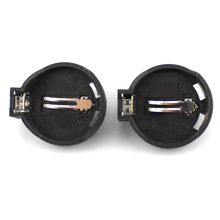 50pcs/lot CR2025 CR2032 Button Coin Cell Battery Socket Holder Case Black Color Free Shipping