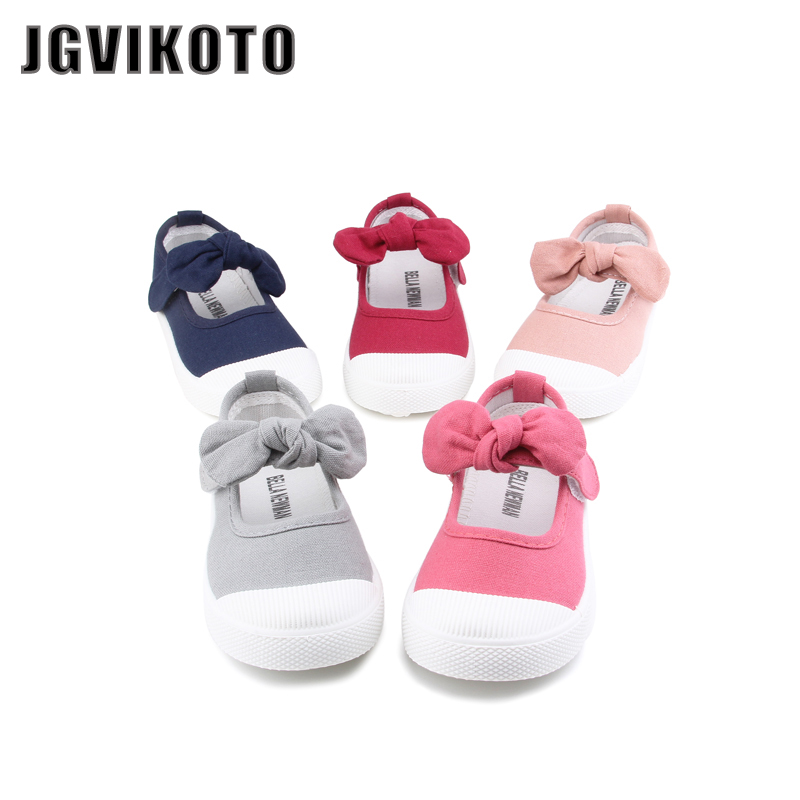 JGVIKOTO Baby Girl Shoes Canvas Casual Kids Shoes With Bowtie Bow-knot Sweet Candy Color Girls Sneakers Children Shoes 21-30JGVIKOTO Baby Girl Shoes Canvas Casual Kids Shoes With Bowtie Bow-knot Sweet Candy Color Girls Sneakers Children Shoes 21-30