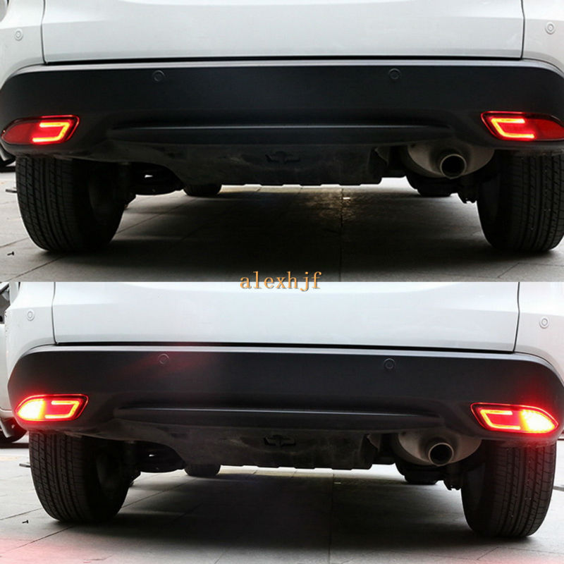 ФОТО July King Car LED Brake Lights + LED light Guide Night Driving Light Case for Honda Vezel HRV HR-V, LED Rear Bumper Fog Lamp
