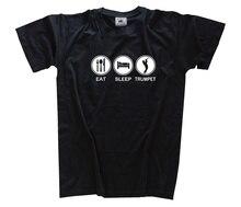 EAT SLEEP TRUMPET trompete T-Shirt S-XXXL neu Harajuku Tops t shirt Fashion Classic Unique free shipping