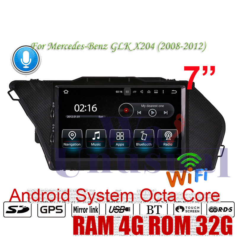 WANUSUAL Android 8.0 GPS Navigation For Mercedes Benz GLK X204 (2008 2009 2010 2011 2012) Auto NO DVD Player Head Unit Radio MP4