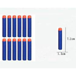 Мягкая Голова 100 шт. 7.2 см Пополнения Дартс для Nerf N-strike Elite Series Бластеров Kid Toy Gun