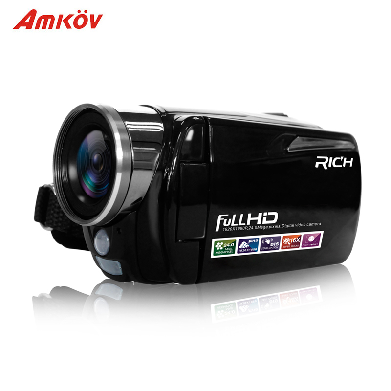 Portable Infrared Video Camera 1080P HD 16x Zoom 3.0'' TFT LCD Digital Video Camcorder Camera DV DVR Support for night shooting image