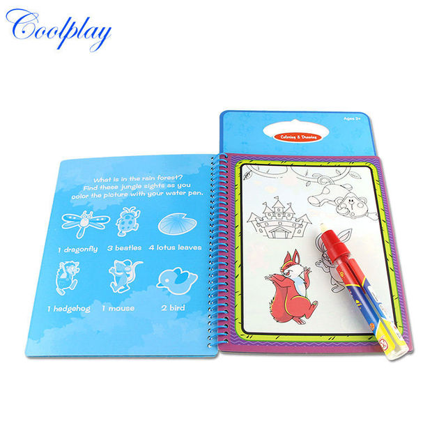 5pcs lots cp1392 new arrives magic kids water drawing book with 1 magic pen