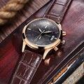 Relogio masculino MEGIR Reloj Militar Hombres Reloj de Cuarzo Cronógrafo Para Hombre Relojes de Primeras Marcas de Lujo de Cuero Reloj de Pulsera Deportivo 2016
