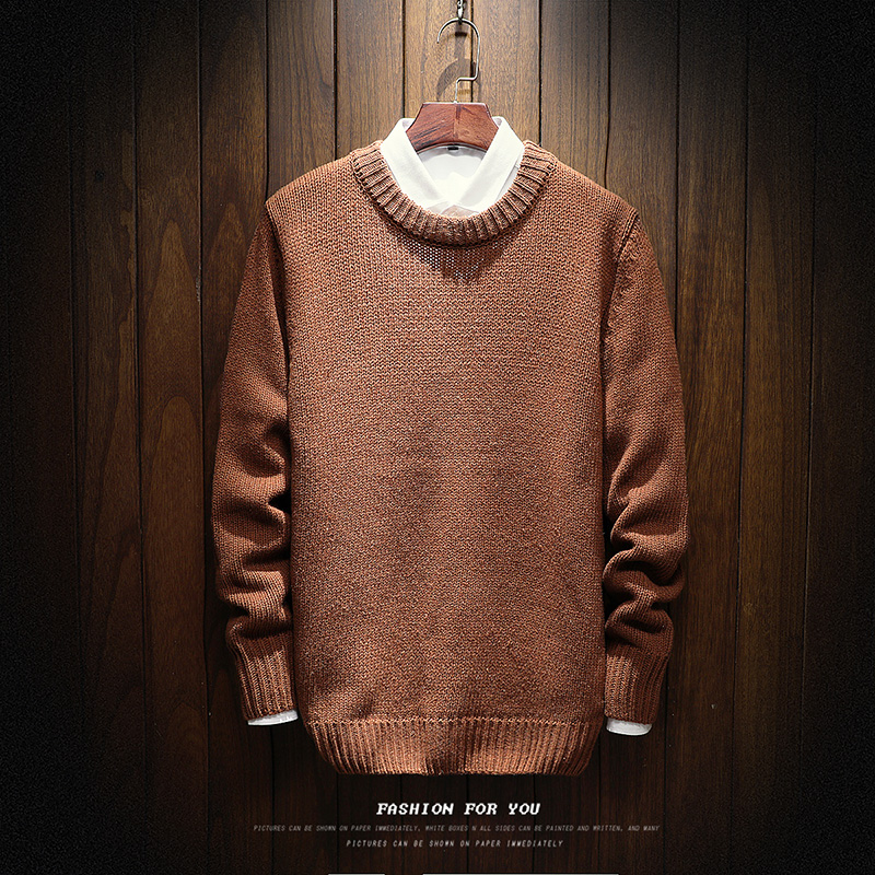 Men Autumn Winter Warm Sweaters New Male Thicker Warm Casual Pullovers Men O-neck Solid Sweaters Size XL