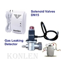 Solenoid Valves Connects with Gas Leaking Detector for Town Gas Emergency Shut Off Gas Supply Manually or Automatically.konlen
